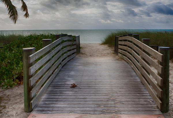 Painted path - Sombrero Beach - Marathon,Fl.